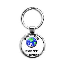World's Best Event Organizer Round Keychain