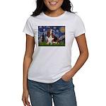 Starry Night & Basset Women's T-Shirt