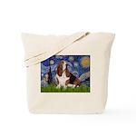 Starry Night & Basset Tote Bag