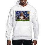 Starry Night & Basset Hooded Sweatshirt