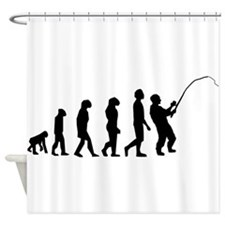 Fishing Evolution Shower Curtain