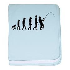 Fishing Evolution baby blanket