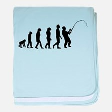 Fishing Evolution baby blanket