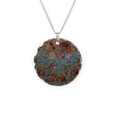 Rustic Rock Lichen Texture Necklace