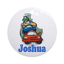 Joshua Cars Ornament (Round)