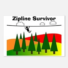 Zipline Survivor Postcards (Package of 8)