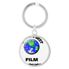 World's Best Film Producer Round Keychain