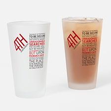 4th Amendment Drinking Glass