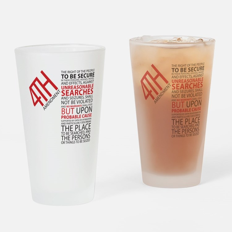 4th Amendment Drinking Glass