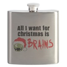 All I Want for Christmas is BRAINS Flask