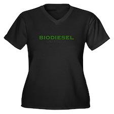 BIODIESEL  Women's Plus Size V-Neck Dark T-Shirt
