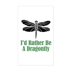 Rather Be A Dragonfly Rectangle Decal