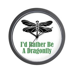 Rather Be A Dragonfly Wall Clock (w/out numbers)