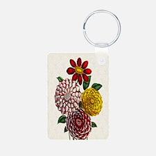 Dahlia Flowers Keychains