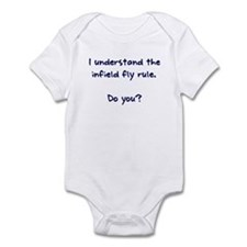 Infield Fly Rule Infant Bodysuit