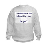 Baseball infield fly rule Crew Neck