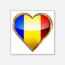 """Romanian Square Sticker 3"""" x 3"""""""