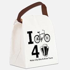 I Bike 4 Beer Canvas Lunch Bag