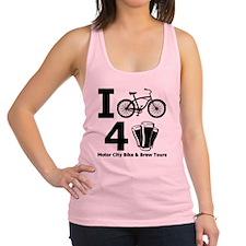 I Bike 4 Beer Racerback Tank Top