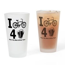 I Bike 4 Beer Drinking Glass