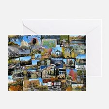 Central Park collage Greeting Card