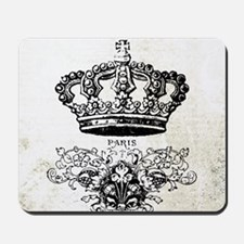 Vintage french shabby chic crown Mousepad