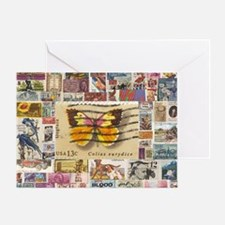 Stamp Collection Greeting Card