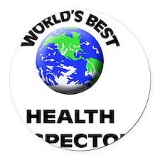 World's Best Health Inspector Round Car Magnet