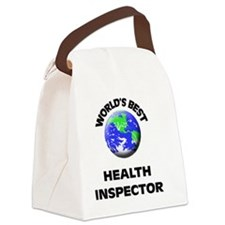 World's Best Health Inspector Canvas Lunch Bag