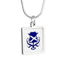Scottish navy blue thistle Necklaces