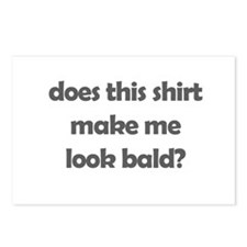 does this make me look bald?  Postcards (Package o