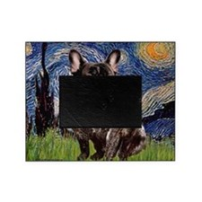 Starry-Brindle French Bulldog Picture Frame