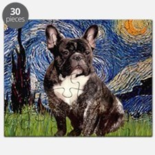 Starry-Brindle French Bulldog Puzzle