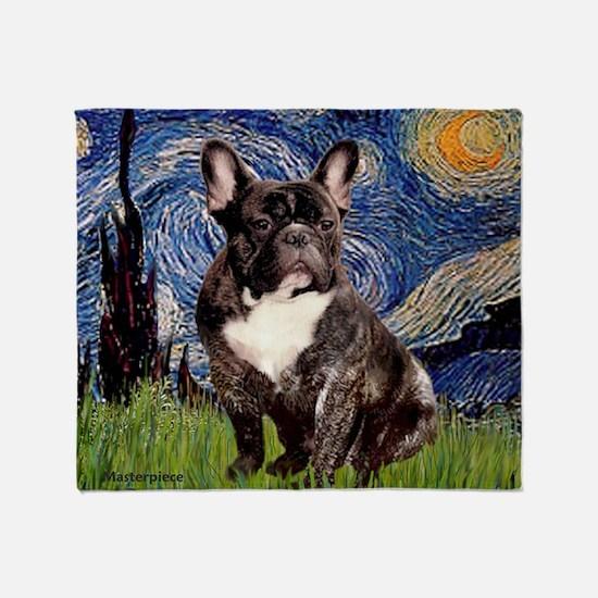Starry-Brindle French Bulldog Throw Blanket