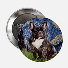 "Starry-Brindle French Bulldog 2.25"" Button"
