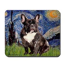 Starry-Brindle French Bulldog Mousepad