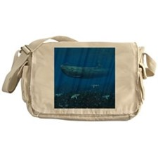 shower_curtain Messenger Bag