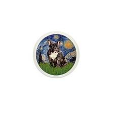 Starry-Brindle French Bulldog Mini Button
