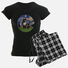 Starry-Brindle French Bulldo Pajamas