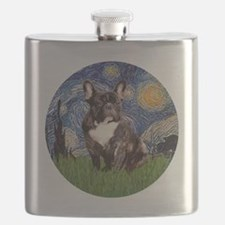 Starry-Brindle French Bulldog Flask