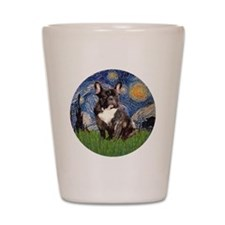 Starry-Brindle French Bulldog Shot Glass