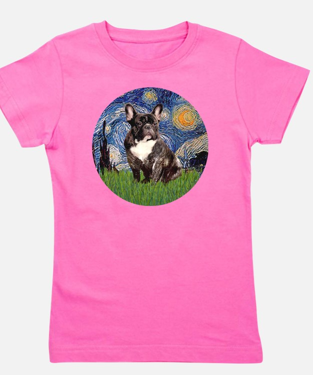 Starry-Brindle French Bulldog Girl's Tee