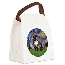 Starry-Brindle French Bulldog Canvas Lunch Bag