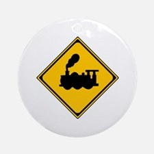 Train Sign Ornament (Round)