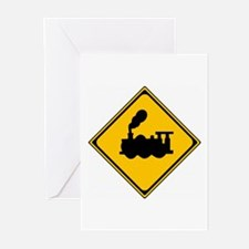 Train Sign Greeting Cards (Pk of 10)