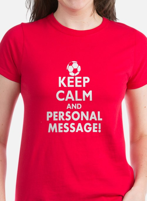 Personalized Keep Calm Soccer Tee