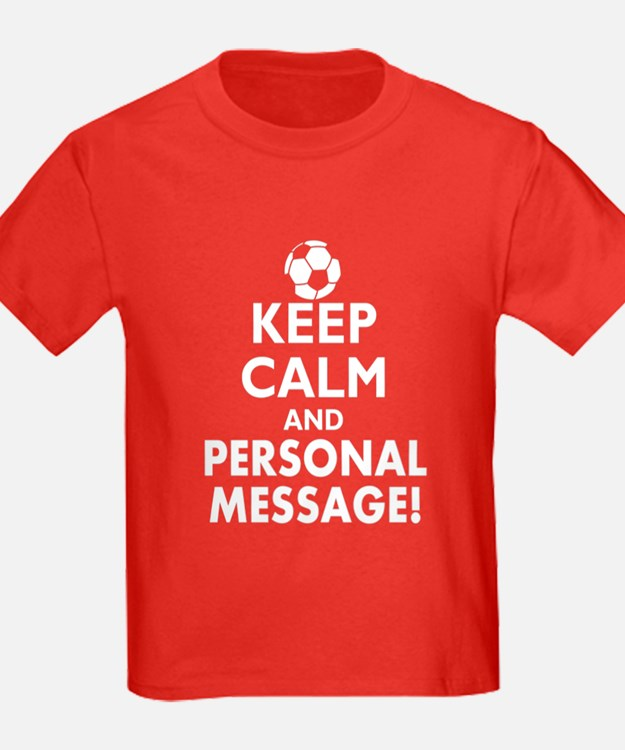 Personalized Keep Calm Soccer T