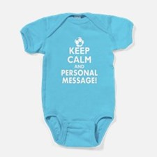 Personalized Keep Calm Soccer Baby Bodysuit