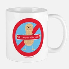 No peanuts for me! by allergy-a-wear Mugs