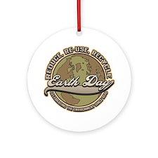 Classic Earth Day Ornament (Round)